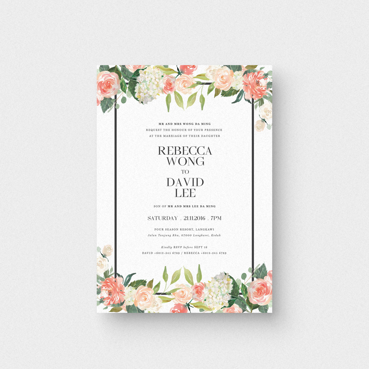 Where To Buy Wedding Invitation Paper: Floral Letter I Invitation Card