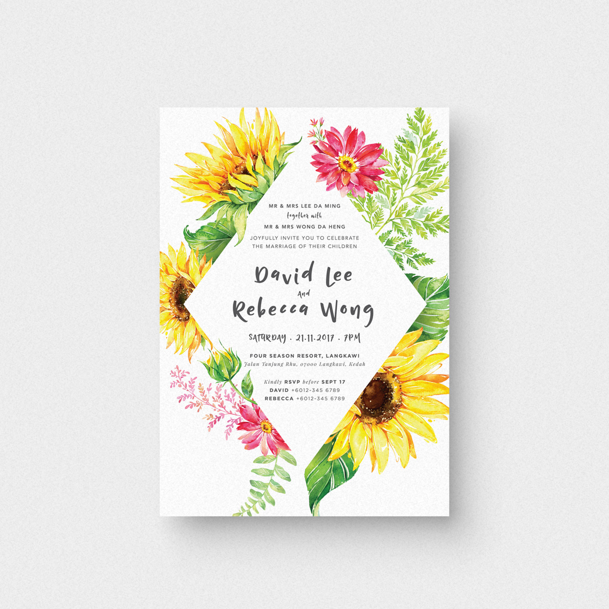 My Sunshine II Invitation Card - The Paperpapers - Wedding ...