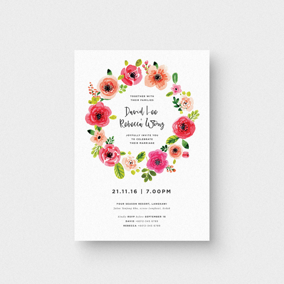 Summer Garden Invitation Card - The Paperpapers - Wedding Invitation ...