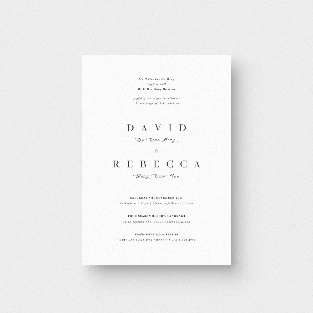 The Simplicity Invitation Card - The Paperpapers - Wedding ...